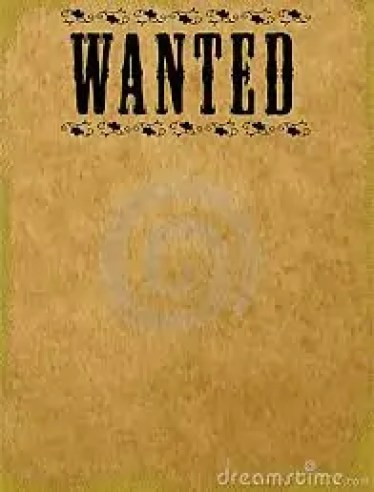 Wanted Poster Template 4.