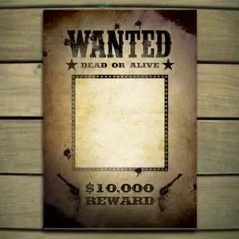 Wanted Poster Template 5.