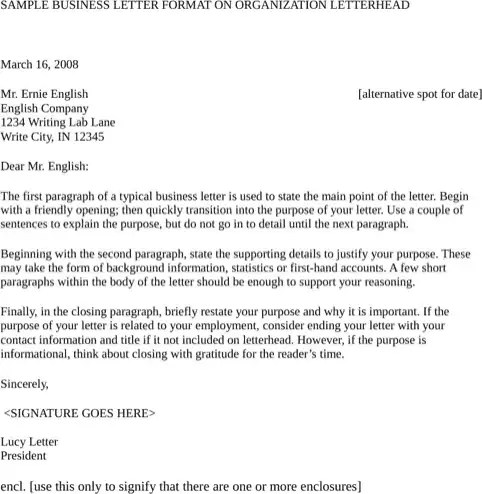 business letter template 10.