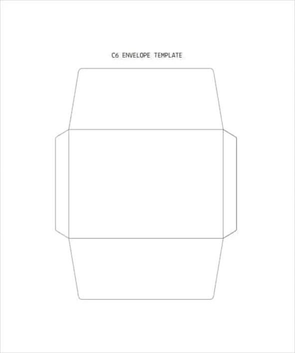 c6 envelop template 6.