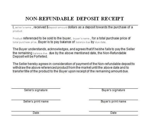 car deposit form 4.