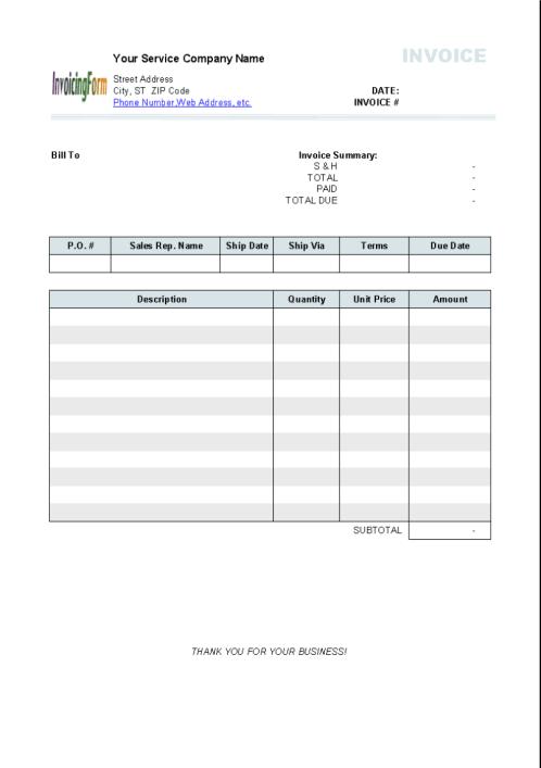 invoice template 1.