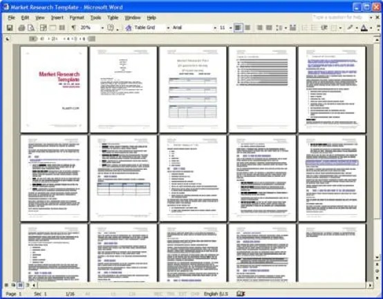 market research template 4.