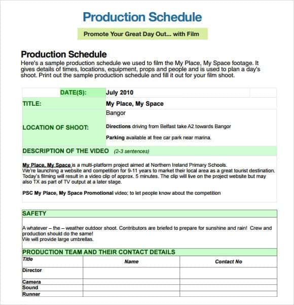 Film Shooting Schedule Template Manqalhellenesco - Shooting schedule template