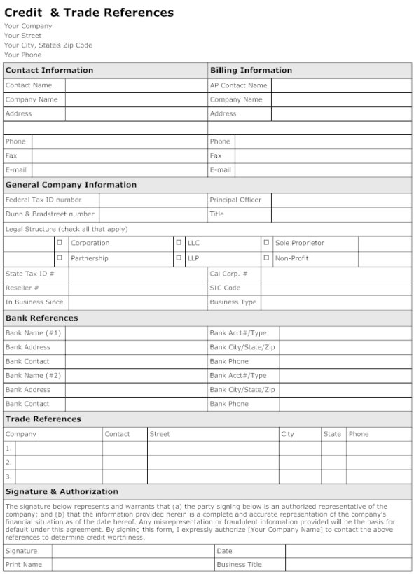 trade reference template 10.