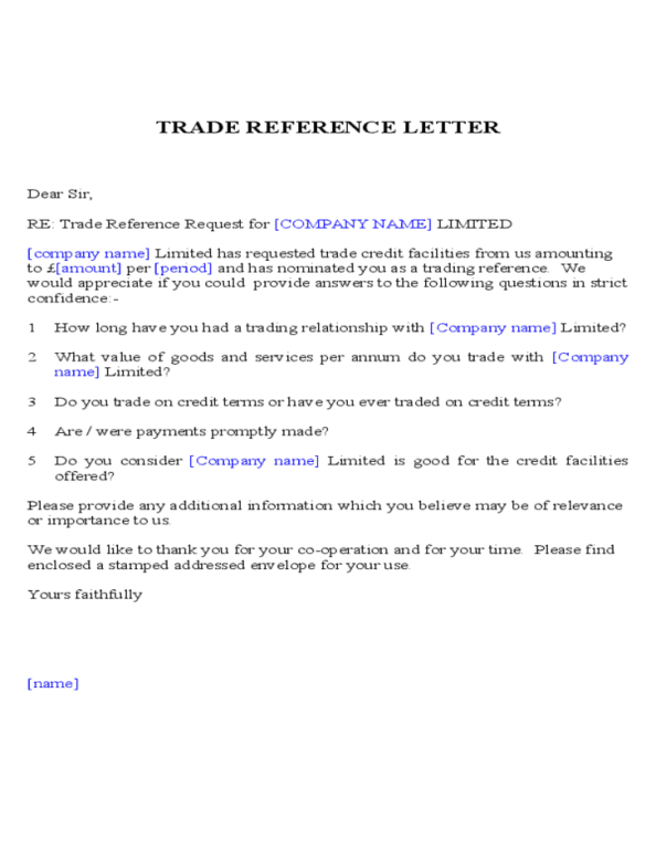 trade reference template 9.