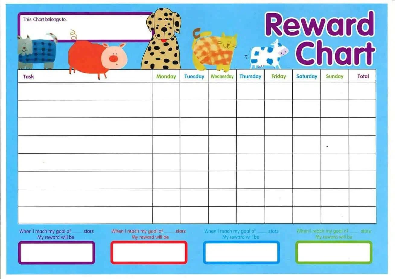 free reward chart templates