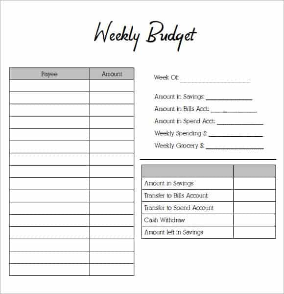 Budget Planner Template Free. Blank Monthly Budget Worksheet Best
