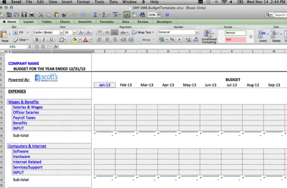 business budget template 2.