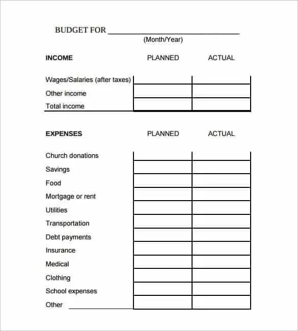 excel budget template 5.