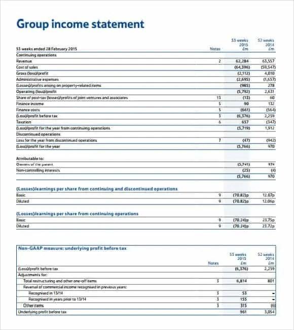 income statement template 1.