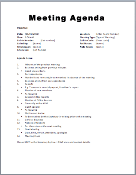 meeting agenda template 1.