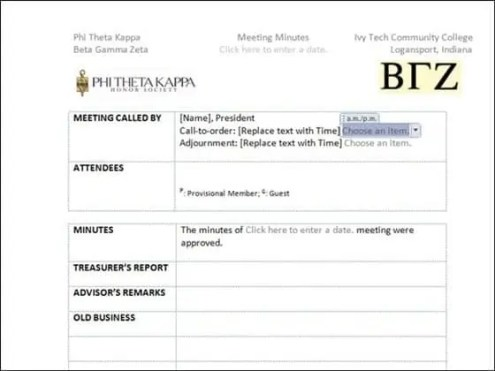 meeting minutes template 6.