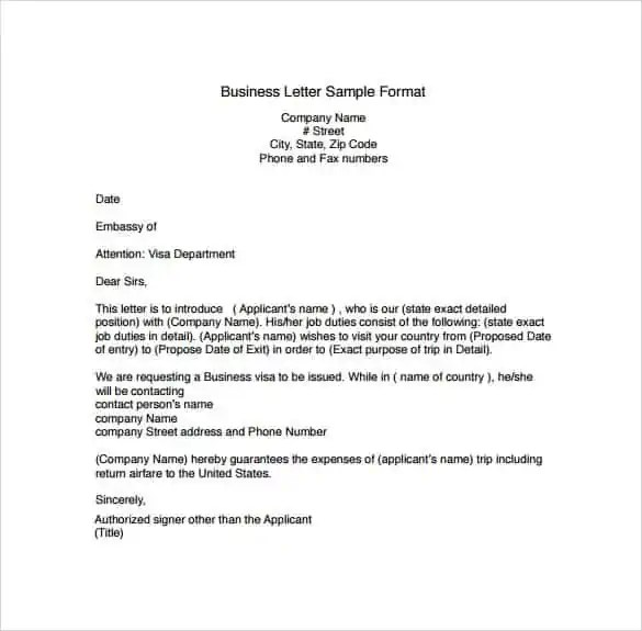 Professional Letter Template 5  Professional Letter Template Word