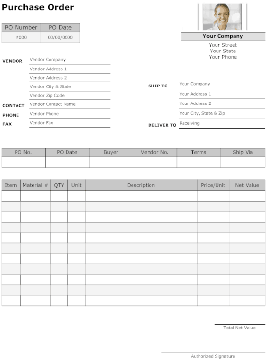purchase order template 6.