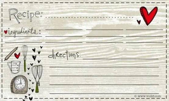 recipe card template 4.