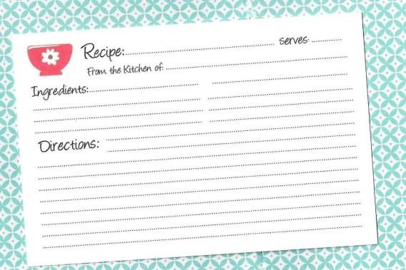 recipe card template 7.