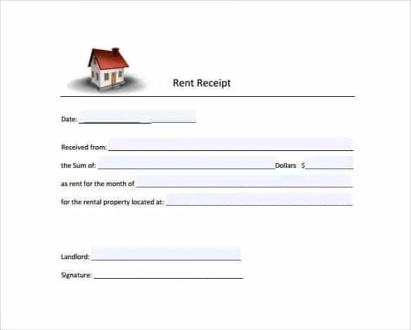 rent receipt template 9.