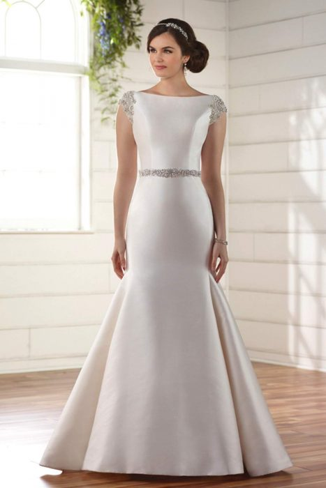b17546ef91e8 Style D2241 by Essense of Australia. This structured wedding dress ...
