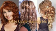cute curly hairstyles latest