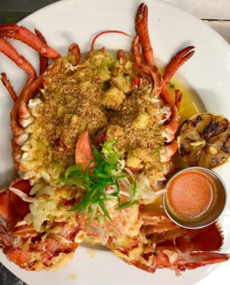Open lobster from Lure Fishbar, NYC