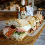 Italian sandwich from Sergimmo Salumeria, Manhattan