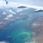Flying over The Galapagos