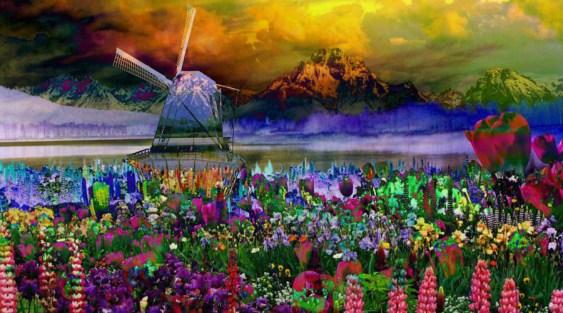 Landscape Flowers Impressionism
