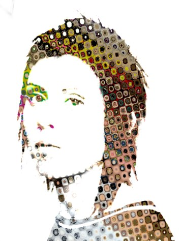 Portrait Art Abstract Tegan Quin