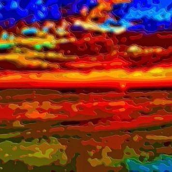 Landscape Sunset Ocean Art