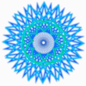 Spirograph Layer Art Blue Sphere