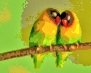 Bird Portrait Art Canary
