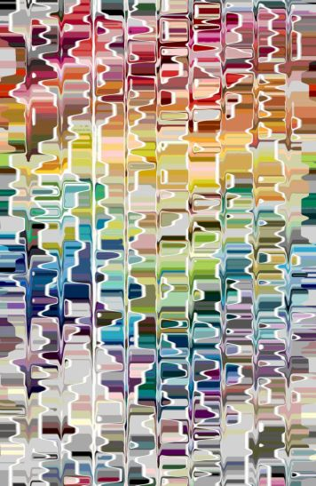 Abstract Color Map Bevel Centry