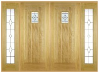 Cottage Double Front Doors With Sidelights: Internal And ...