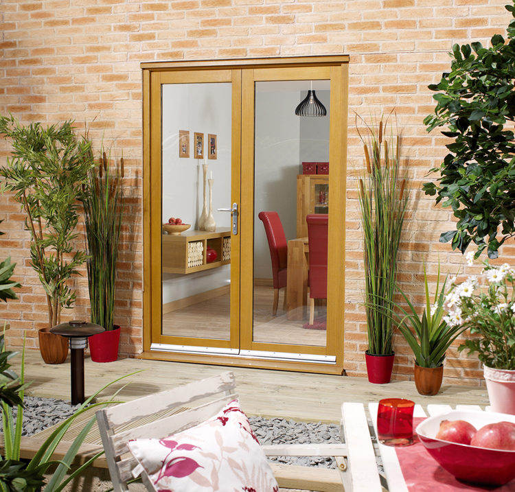 Hardwood french doors french doors exterior for Hardwood french doors