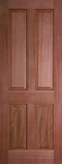 Internal Hardwood Colonial 4 Panel Door Unfinished | Finewood