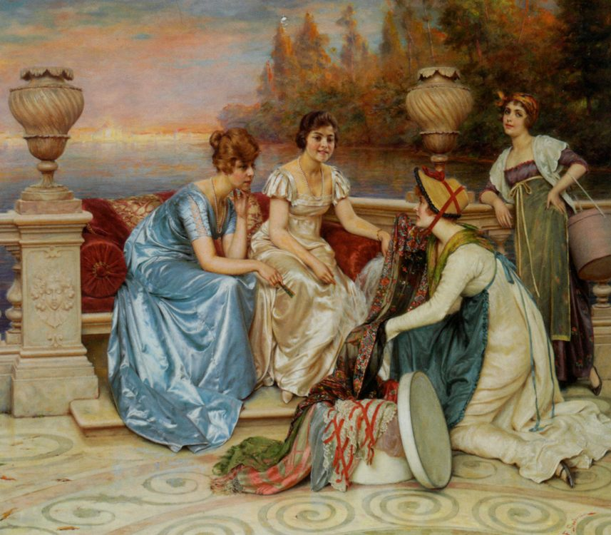 Choosing the Finest :: Frederic Soulacroix  - Romantic scenes in art and painting - paintings - masterpieces of art