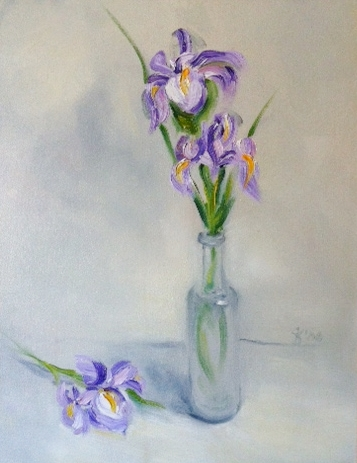 Iris Fine Art Oil Painting