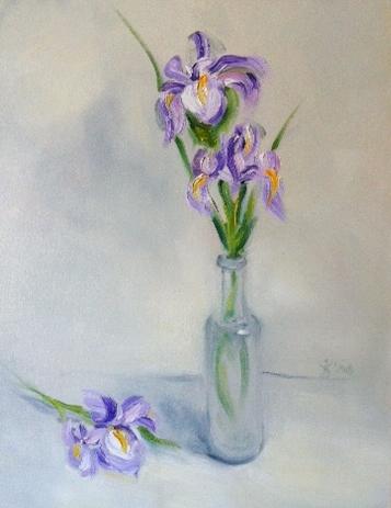 Iris Fine Art Oil Painting