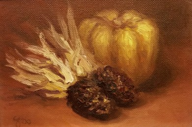 Fall Treasures Fine Art Oil Painting