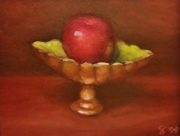 An Apple A Day Fine Art Oil Painting