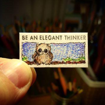 Be An Elegant Thinker Kate Spade Stamp