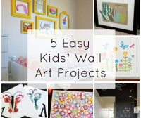 5 Easy Kids' Wall Art Projects | Fine Art Mom