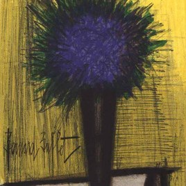 """Buffet Bernard  """"The purple bouquet of Flowers """""""