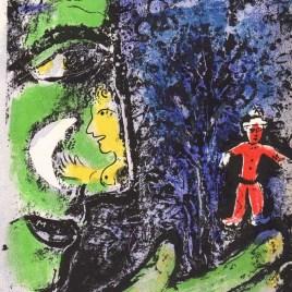 """Chagall Marc, """"Le profile et l'enfat rouge"""""""