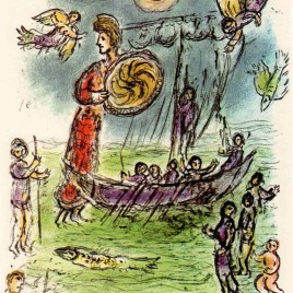 "Chagall Marc, ""Athene guides telemachus Boat – Odyssea V1"" 1989"