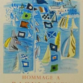"""Raoul Dufy, """"Ville de honfleur 1954"""""""