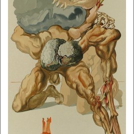 "Dali Salvardor, ""Hell 7 -The avaricious and the prodiga"""