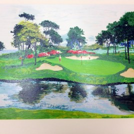 "Mark King, ""Golf course"""