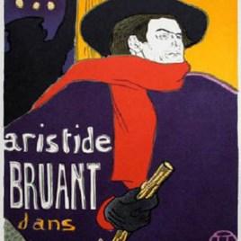 """Lautrec Henri de Toulouse, """"Bruant Eldorado"""""""